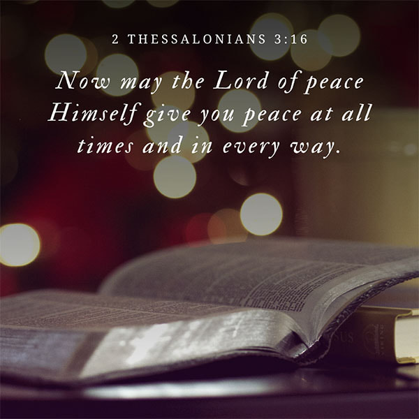 2 Thessalonians Peace Bible Verse